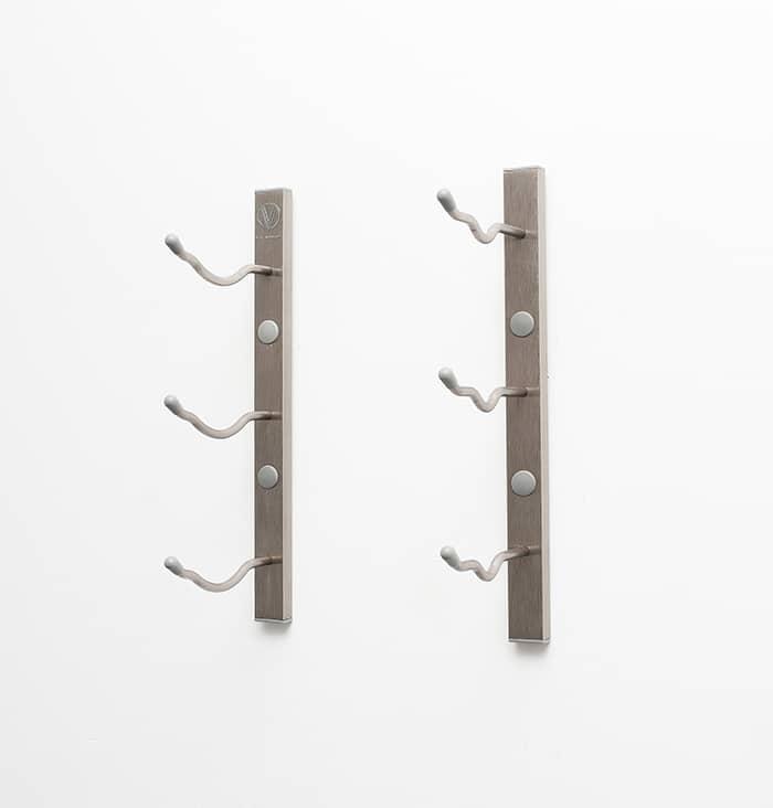 wall series metal wine rack in brushed nickel finish ws11p - Metal Wine Rack