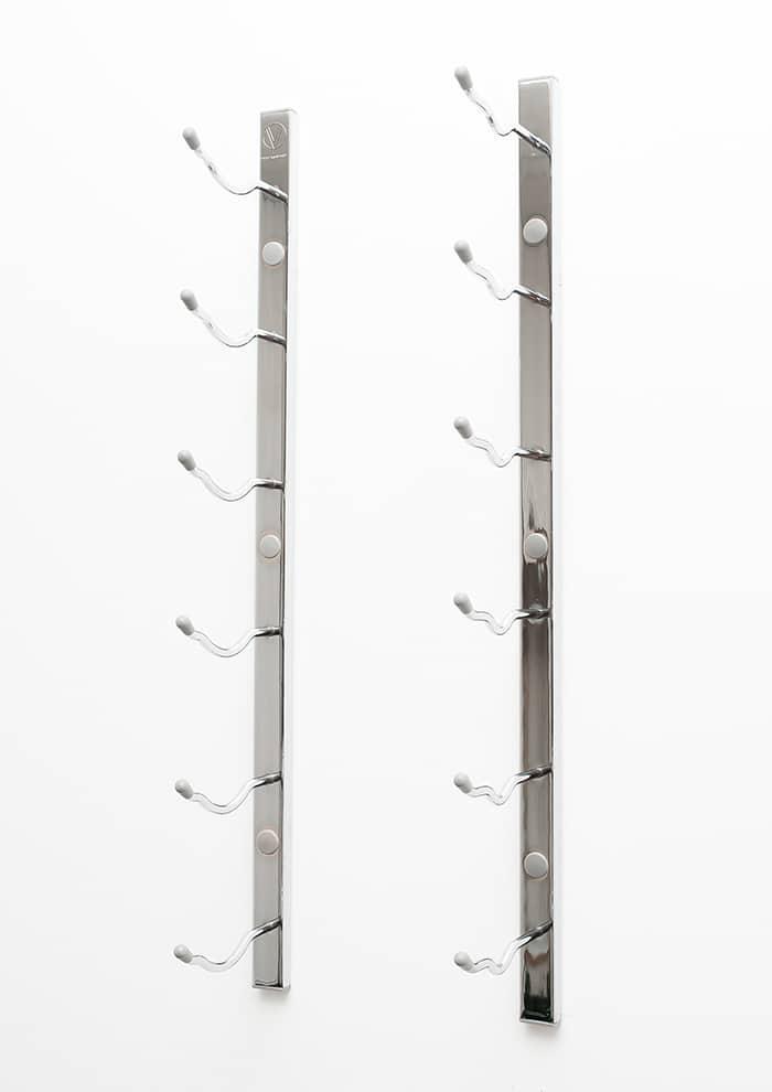 wall series metal wine rack in chrome finish ws21chrome - Metal Wine Rack