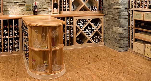 Cool Wine Cellar Flooring Cork Mosaic Hand Painted