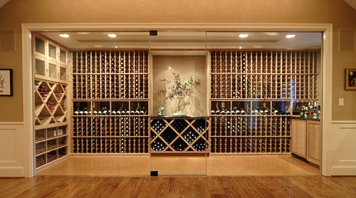 Cool Wine Cellar Custom Glass Wine Cellars Design